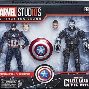 Figura Marvel Legends Civil War Capitan America y Crossbones