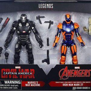 Figura Marvel Legends Civil War War Machine y Ironman Mark 27