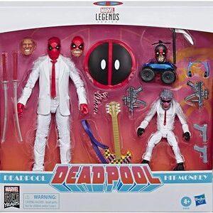 Figura Marvel Legends Deadpool Pack con Hit Monkey y Trajes