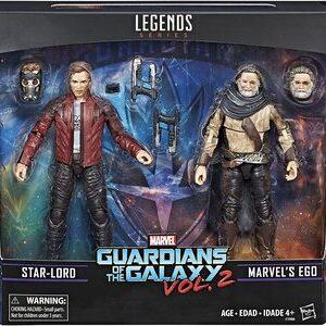 Figura Marvel Legends Guardianes de la Galaxia Ego y Star Lord