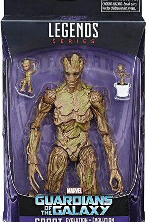 Figura Marvel Legends Guardianes de la Galaxia Groot Evolution