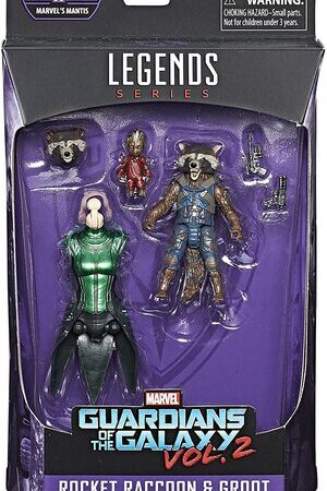 Figura Marvel Legends Guardianes de la Galaxia Rocket y Groot