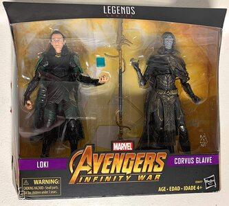 Figura Marvel Legends Infinity War Loki y Corvus Glaive