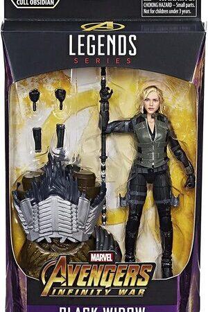 Figura Marvel Legends Infinity War Viuda Negra (Cull Obsidian)