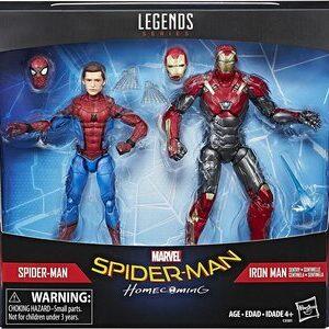 Figura Marvel Legends Spider-Man HomeComing Spider-Man y Ironman