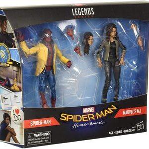 Figura Marvel Legends Spider-Man HomeComing Spider-Man y MJ