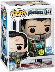 Funko Pop Vengadores Endgame 747 Loki con Teseracto que Brilla en la Oscuridad