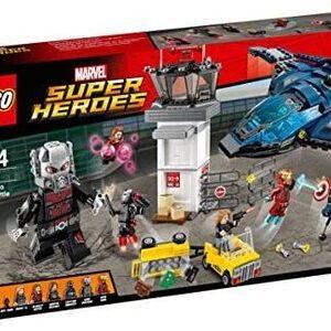 Lego Batalla de los Superhéroes en el Aeropuerto con Ant-Man, Capitán América, Soldado de Invierno, Bruja Escarlata, Iron Man, Máquina de Guerra y Sharon Carter