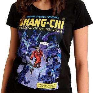 Camiseta Shang Chi y la Leyenda de los diez anillos Portada Comic