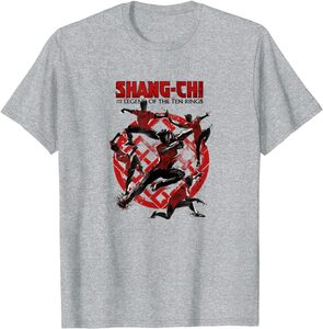 Camiseta Shang Chi y la Leyenda de los diez anillos Poses Logotipo