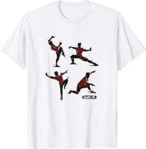 Camiseta Shang Chi y la Leyenda de los diez anillos Poses de Karate Kung Fu