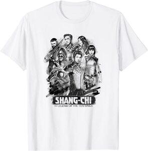 Camiseta Shang Chi y la Leyenda de los diez anillos Poster Dibujo Tinta China