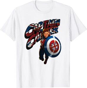Camiseta What If Capitana Carter Bandera Reino Unido