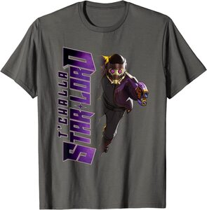 Camiseta What If T'Challa Star Lord Heroe