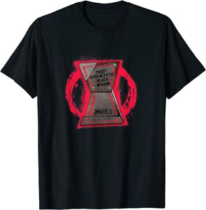 Camiseta What If Viuda Negra Post-Apocalyptic Black Widow Logo