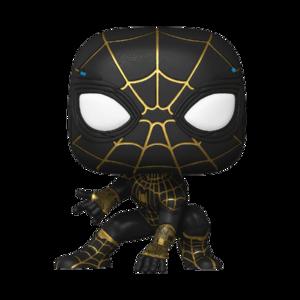 Funko Pop Spider-Man No Way Home 911 Spider-Man Traje Negro y Oro b
