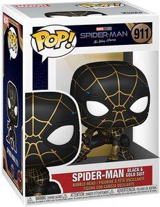 Funko Pop Spider-Man No Way Home 911 Spider-Man Traje Negro y Oro