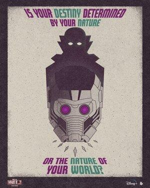 Poster de What if... Que hubiera pasado si... Capítulo 2 T'Challa Star Lord