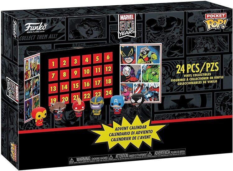Funko Pop Calendario de Adviento para Navidad de Marvel Los Vengadores