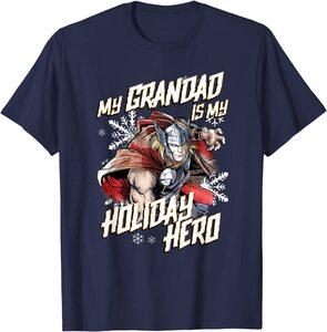 Camiseta Marvel Navidad Mi Abuelo es mi Héroe