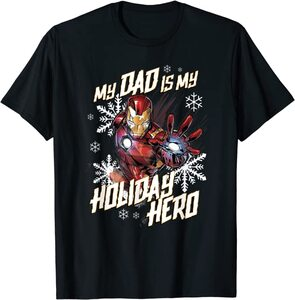 Camiseta Marvel Navidad Mi Papá es mi Héroe