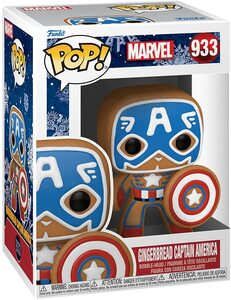 Funko Pop Edicion Especial Navidad 933 Capitán América Galleta de Jengibre