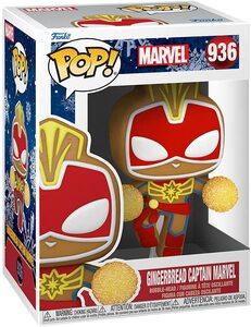 Funko Pop Edicion Especial Navidad 936 Capitana Marvel Galleta de Jengibre