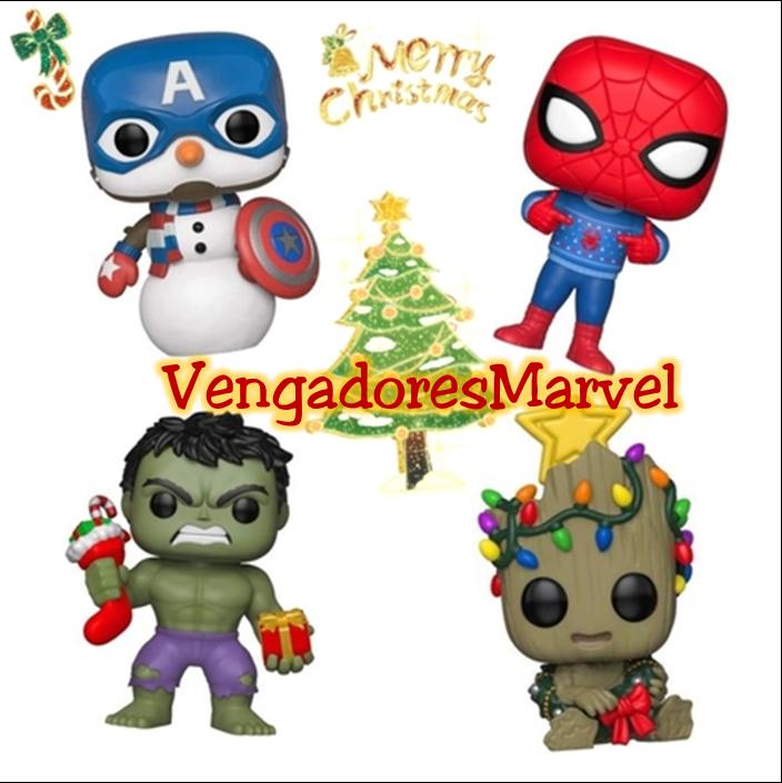 Funko Pop Navidad Collage Vengadores Marvel