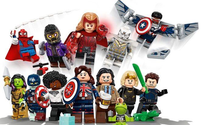 Lego Juego Completo de 12 minifiguras de Wandavision, Loki, Falcon y El Soldado de Invierno y What If 1