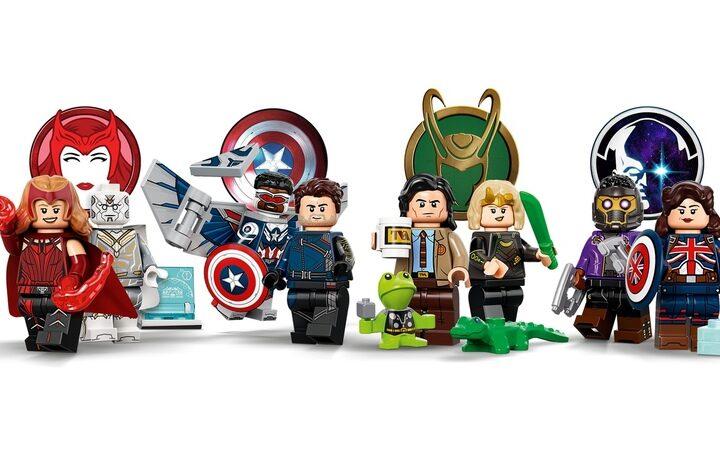 Lego Juego Completo de 12 minifiguras de Wandavision, Loki, Falcon y El Soldado de Invierno y What If 3