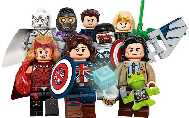 Lego Juego Completo de 12 minifiguras de Wandavision, Loki, Falcon y El Soldado de Invierno y What If 5