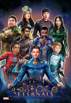 Poster de personajes de Eternals