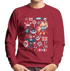Ropa de Marvel Serie Navidad Caricatura Duo Thor y Capitán Amércia