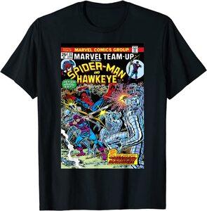 Camiseta Hawkeye Ojo de Halcón Comic Retro Vintage Portada con Spider-Man