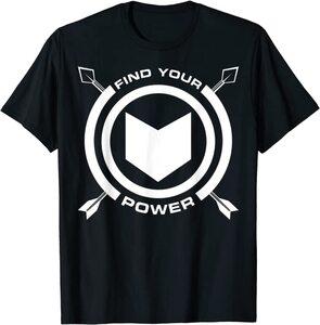 Camiseta Hawkeye Ojo de Halcón Logo Find Your Power
