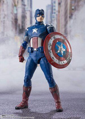 Figura Bandai Tamashii Nations Capitán América La Batalla de Nueva York de Vengadores